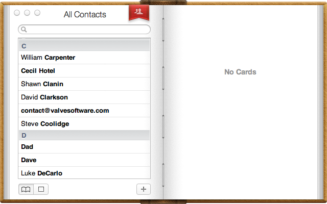Apple's Poorly Designed Address Book OS X Lion App
