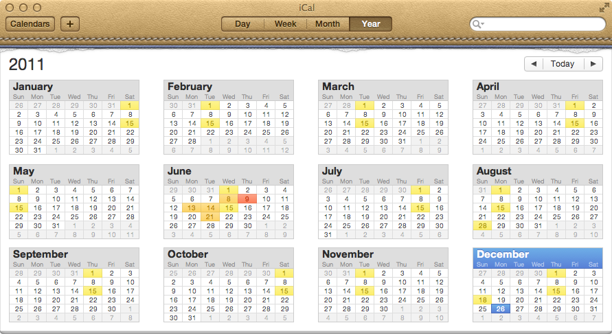 Apple's Awful OS X Lion iCal Design